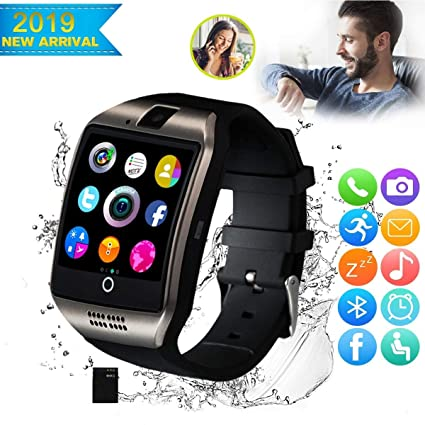 CNPGD [US Office & Warranty Smart Watch All-in-1 Weather Proof Smartwatch Watch Cell Phone for Android, Samsung, Galaxy Note, Nexus, HTC, Sony (Black, ...