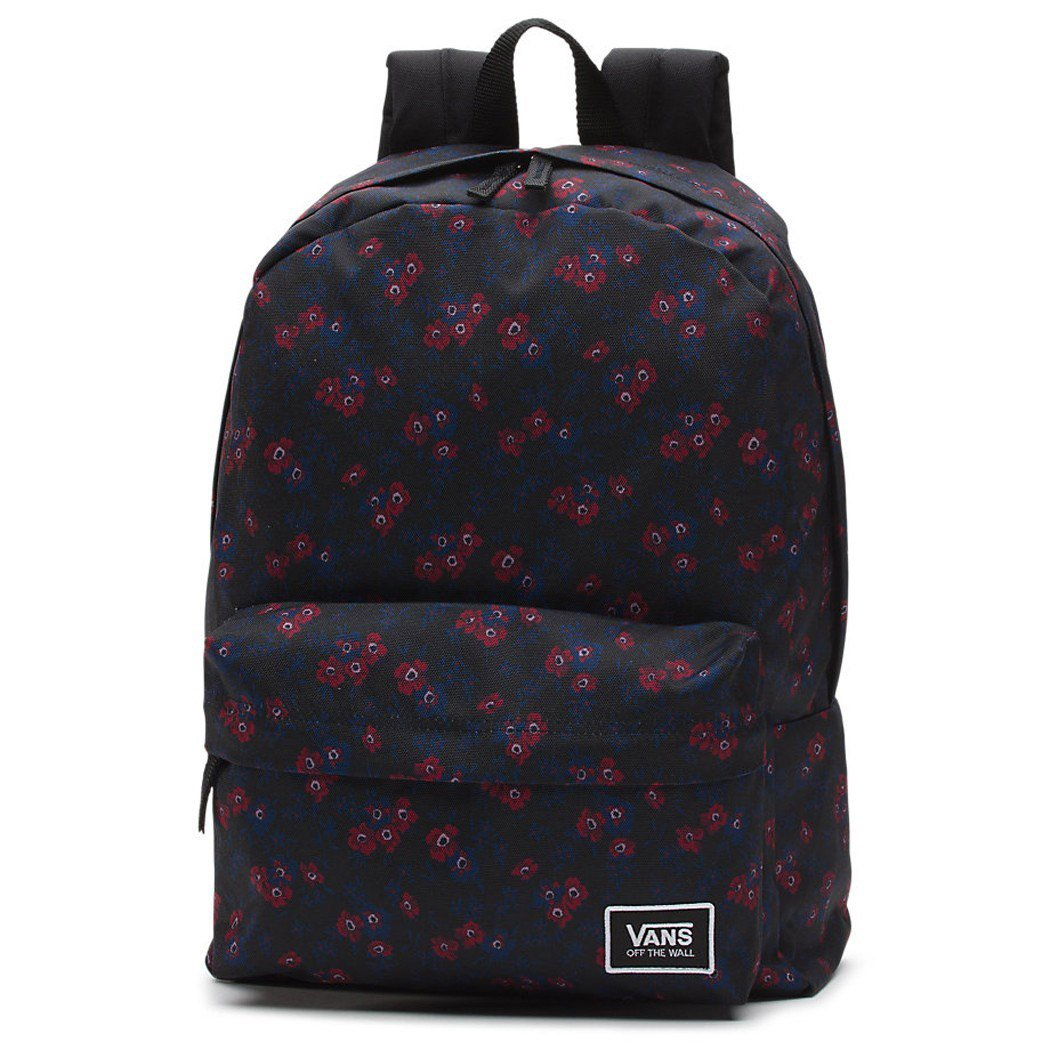 Vans Off The Wall Realm Black Disty Blooms Backpack