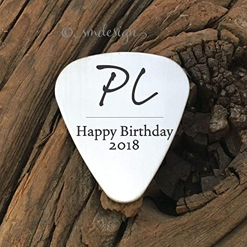 Personalized Happy Birthday Guitar Pick Gift For Boyfriend Rock Star Mens