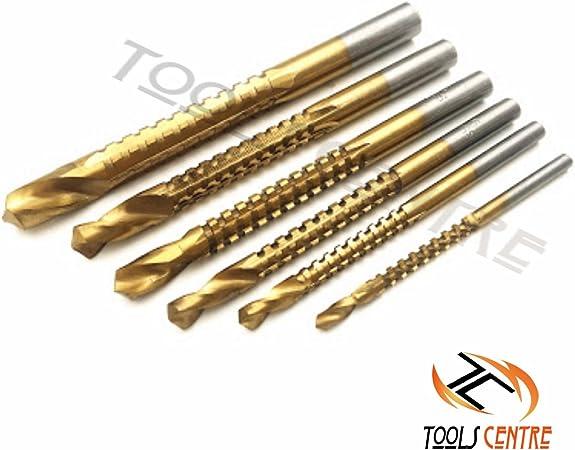 Titanium Coated Woodworking Drill Bit Hole Saw Wood Metal Cutting HSS 3mm-8mm