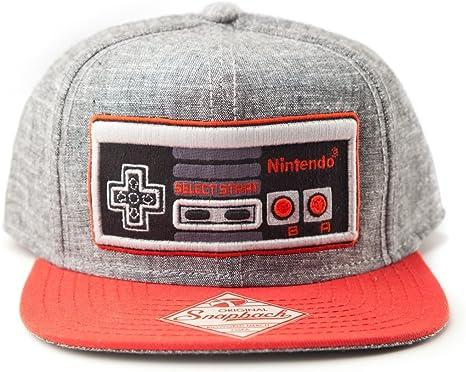 Nintendo - gorra de visera plana del controlador de juego NES ...