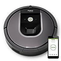 iRobot Roomba 960 - Robot aspirador perfecto para pelo de mascotas con potencia de succión 5 veces superior y cepillos de goma antienredos, múltiples habitaciones, tecnología Dirt Detect, para suelos duros y alfombras, con conexión wifi y programable por app