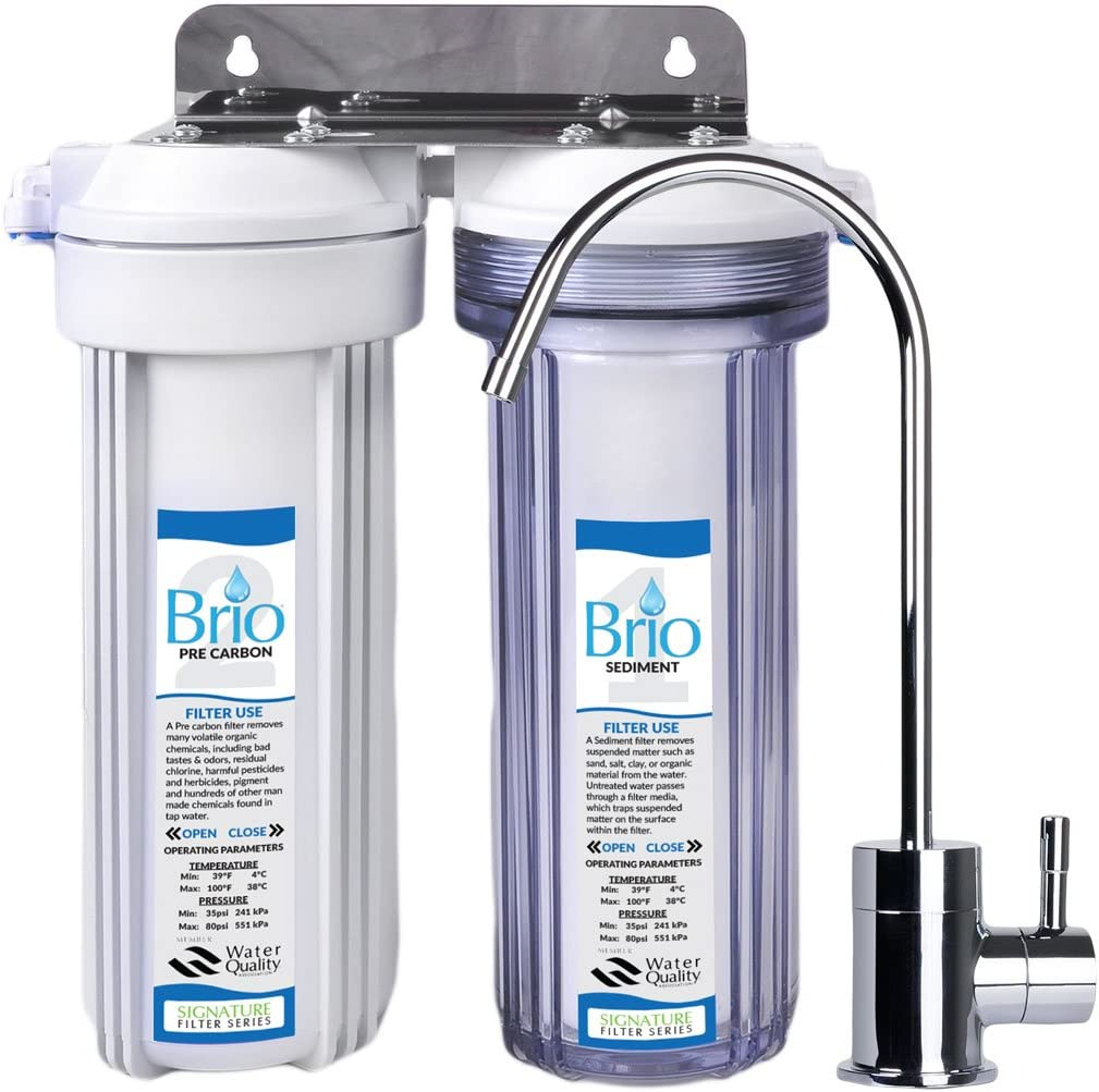 Magic Mountain Water Products Presents the Brio Two Stage Under-Sink Filter w Faucet