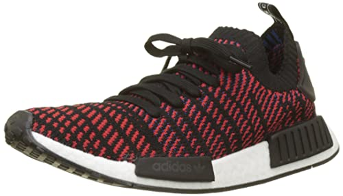 new styles dd758 503e1 Adidas Men's Shoes NMD R1 STLT Primeknit Black Red Blue size 10