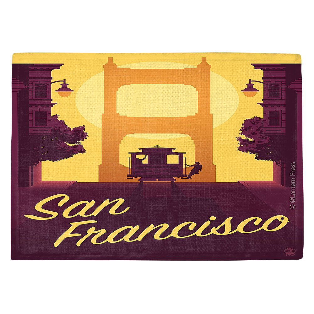 DIANOCHEキッチンPlaceマットbyランタン押しSan Francisco Cable Car Set of 4 Placemats PM-LanternPressSanFranciscoCableCar2 Set of 4 Placemats  B01EXSK0OK