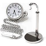 [シチズン]CITIZEN ポケットウォッチ REGUNO レグノ ソーラーテック 電波時計 KL7-914-11と懐中時計用スタンド(シルバーカラー)のセット