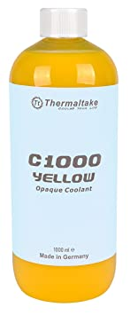 Thermaltake C1000 Opaque 1000ml Vivid Color Coolant Cooling CL-W114-OS00YE-A Yellow Water Cooling Systems at amazon