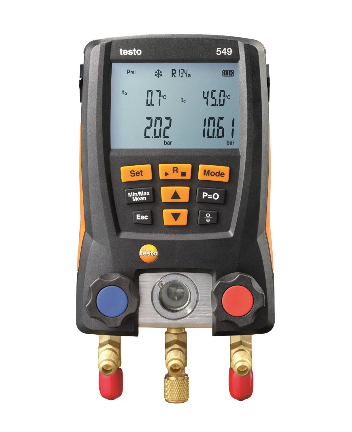 Testo 549 - Digital Manifold Basic Level Electronic Refrigerant Table For Refrigeration System and Heat Pump Installation and Maintenance