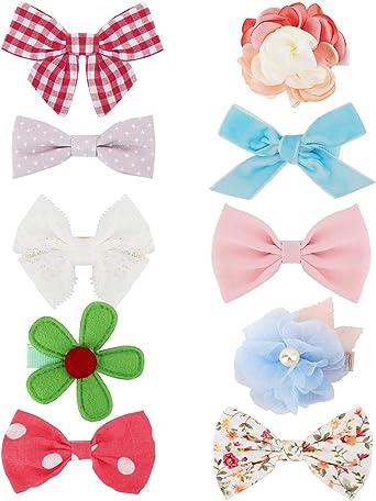 hair clips hair slides snap clips red velvet bows girls// baby mini hair clips