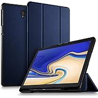Luibor Samsung Galaxy Tab S4 10.5 SM-T830/SM-T835 Estuche - Cubierta Elegante Delgado Estuche de Piel Ultra Ligero Estuche Samsung Galaxy Tab S4 10.5 SM-T830 (Wi-Fi) SM-T835 (4G LTE) Tableta (Azul)