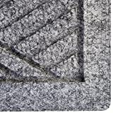 Hudson Exchange Waterhog Diamond Fashion Polypropylene Fiber Entrance Indoor/Outdoor Floor Mat, 35'' L x 35'' W, 3/8'' Thick, Medium Gray