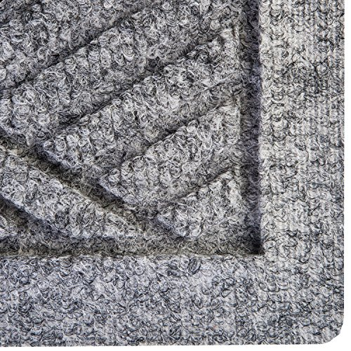 Hudson Exchange Waterhog Diamond Fashion Polypropylene Fiber Entrance Indoor/Outdoor Floor Mat, 35'' L x 35'' W, 3/8'' Thick, Medium Gray by Hudson Exchange