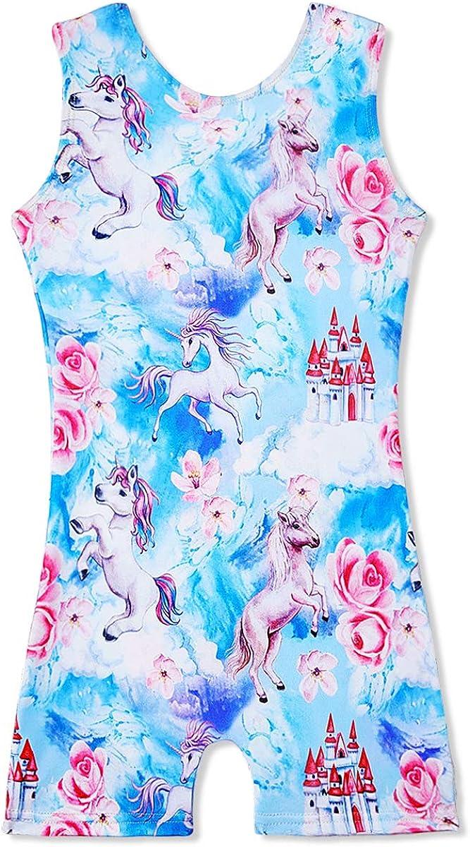 Gymnastics Leotards for Girls Unicorn Mermaid Gym Outfits Dance Apparel Clothes Unitard Biketards One Piece Bodysuit