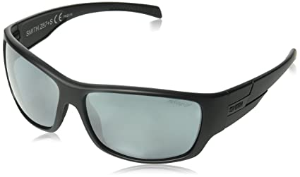 090764680e Smith Optics Elite Frontman Sunglass with Black Frame and Chromapop Polar  Platinum Mirror Lenses