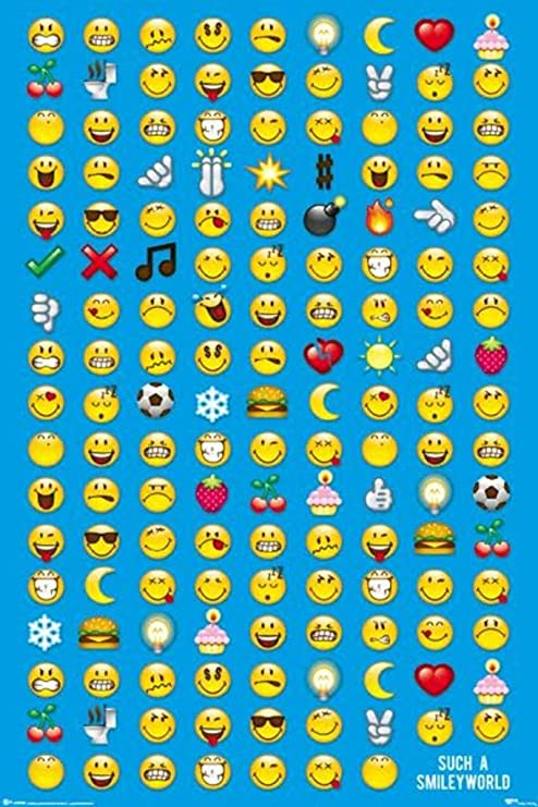 Emoji Poster Smiley Poster COOL and Quality and LARGE FREE P+P CHOOSE YOUR SIZE