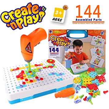 Syosin Design And Drill Play Set Creative Educational Construction