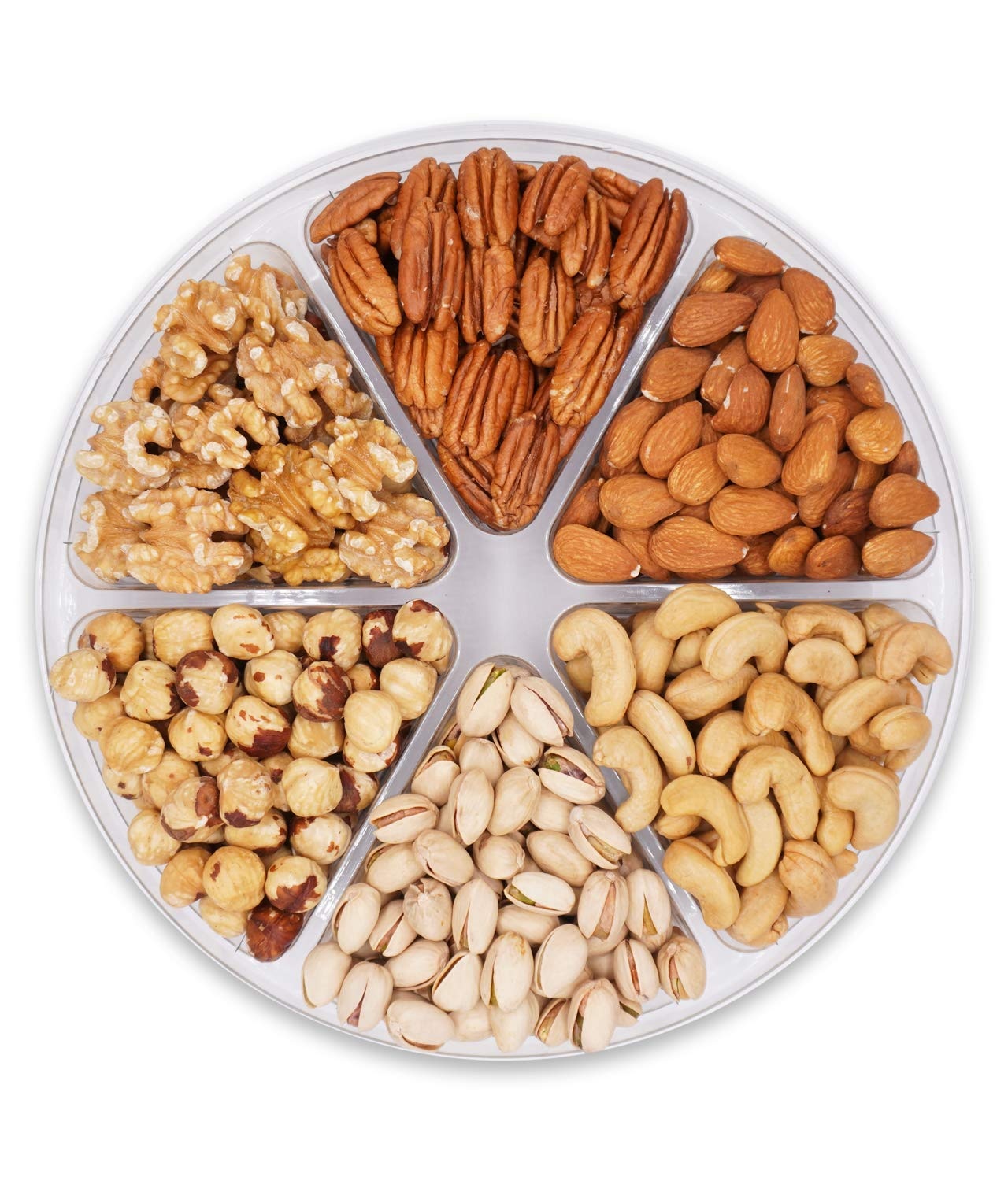 Holiday Fruit and Nuts Gift Basket,Gourmet Food Gift Prime Delivery,Healthy Fresh Gift Idea For Christmas, Thanksgiving, Mothers , Fathers Day, And Birthday(6 Cell Nuts)
