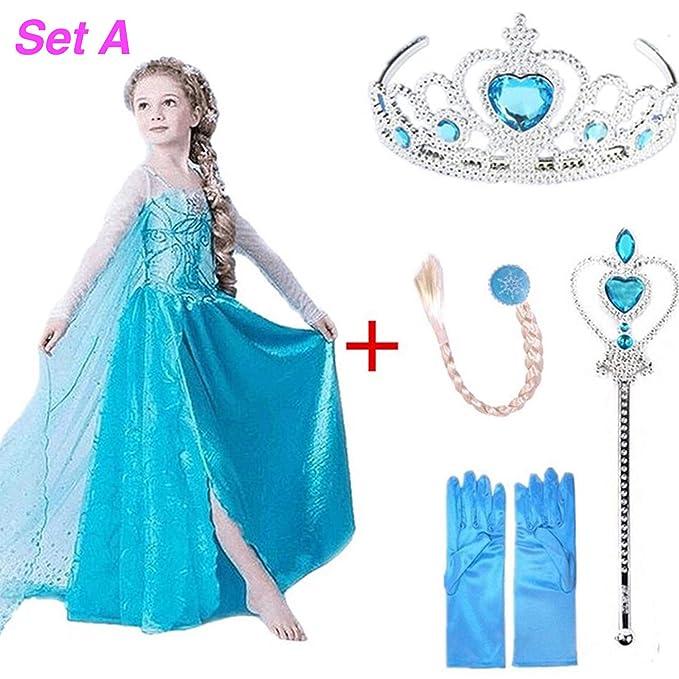 Amazon.com: Disfraz de la reina Elsa Anna de PapCell para ...