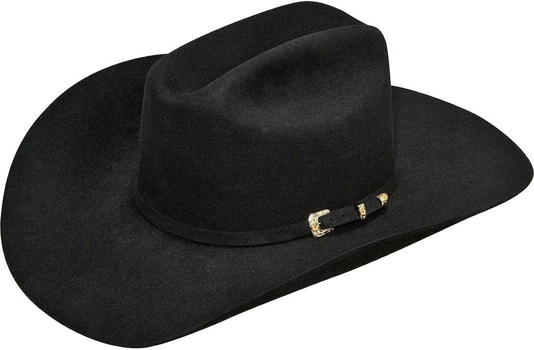 50b61a117 ARIAT Men's 6X Fur 3 Piece Buckle SS Hat, Black, 6 7/8 at Amazon ...