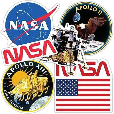 Popfunk NASA Apollo Moon Landing Collectible Stickers: Home & Kitchen