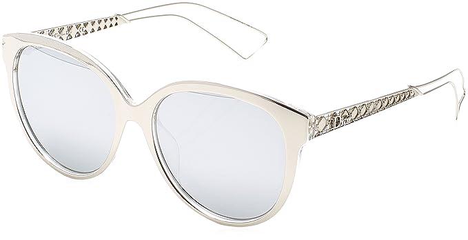 44fba4b9ac Dior DIORAMA2 DC TGU Gafas de Sol, Plateado (Silver PLD/Extra White Marl),  56 para Mujer: Amazon.es: Ropa y accesorios