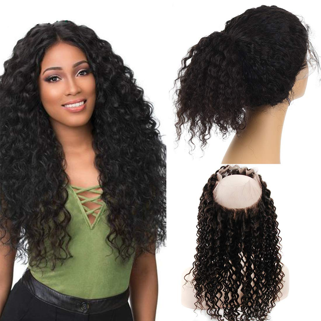 3/4 Bundles With Closure Hair Extensions & Wigs Strict 3 Bundles Malaysian Loose Wave With Pre Plucked Closure With Baby Hair Bouncy Curl No Shedding No Tangle Non Remy Black 1b