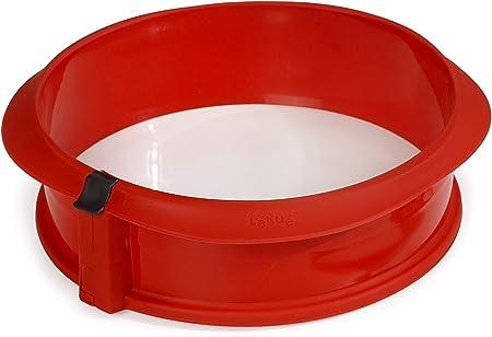 Comprar Lékué Duo Redondo Rojo Molde Pastel, Silicona, 23 x 7 x 23 cm