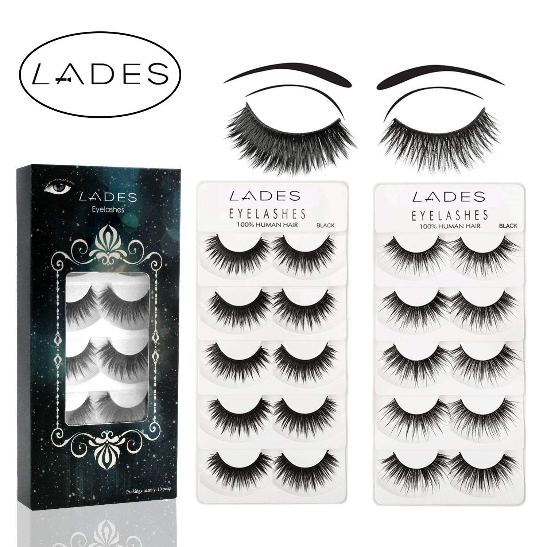 False Eyelashes 10 Pair Multipack Natural 3d False Eyelashes