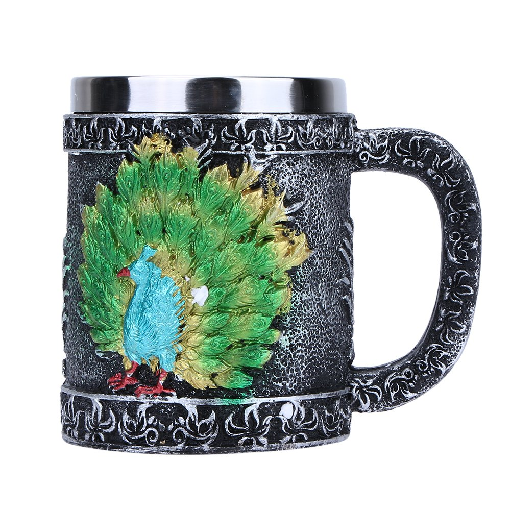 Birthday Gifts - Peacock Beer Mug