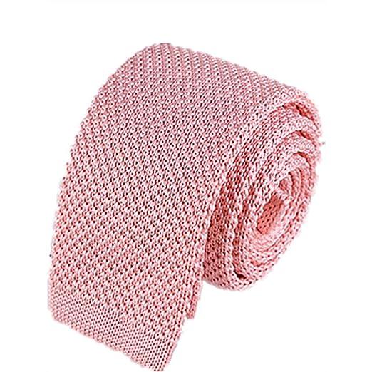 Goodvk Corbata de Hombre Punto Lazo Hombres y Mujeres sólido Rosa ...