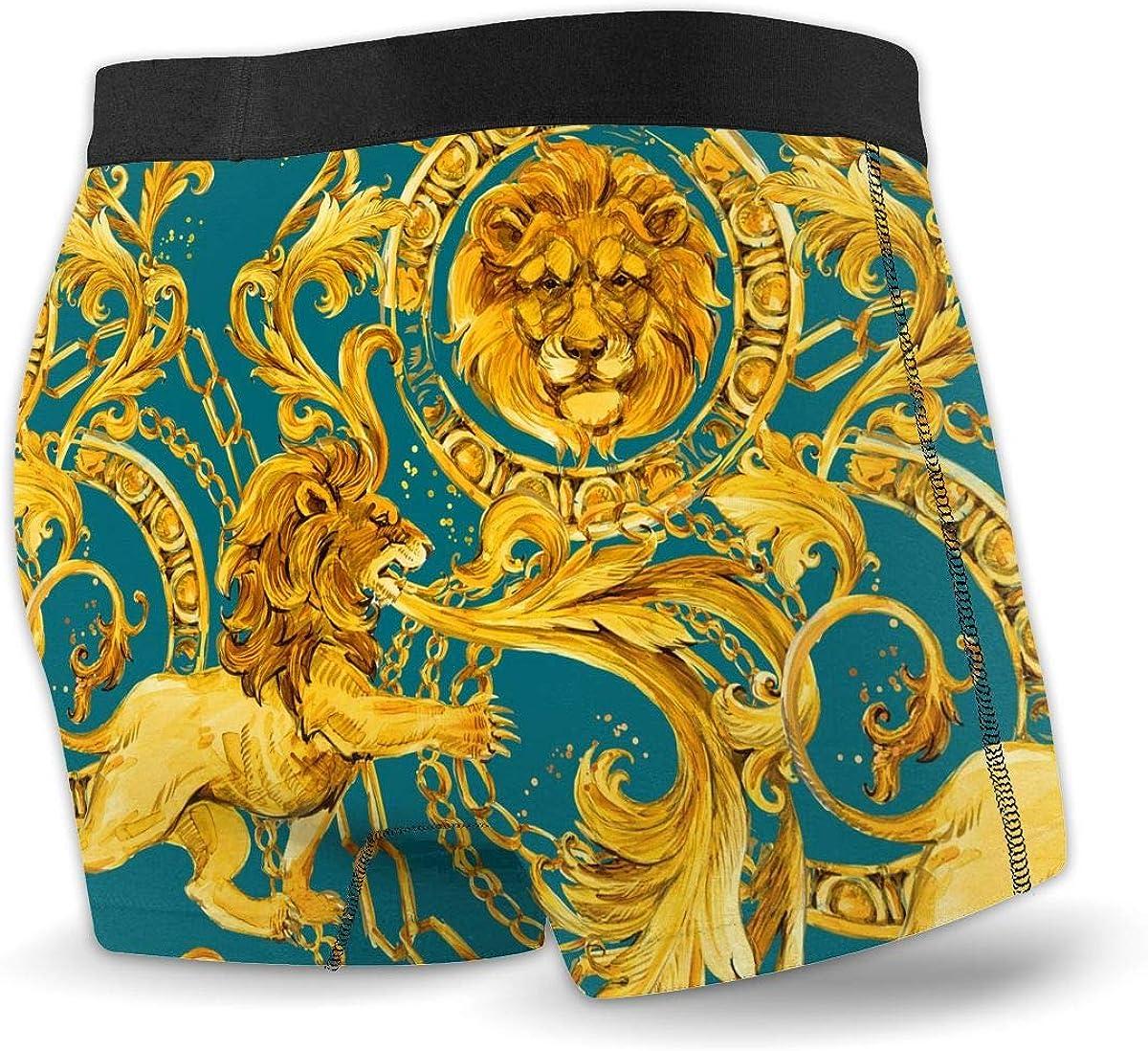 Golden Lion Mens Underwear Boxer Briefs Cotton Sport Stretch Trunks S-XXL