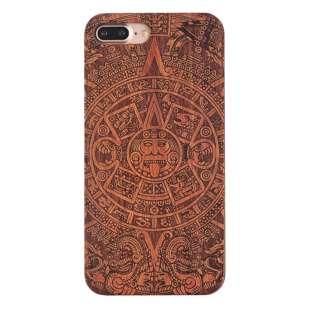 separation shoes abc93 646b9 iPhone 7 Plus Case, Axiba Natural Carved Wood Wooden Hard Cover for iPhone  7 Plus 5.5 Inch (God)