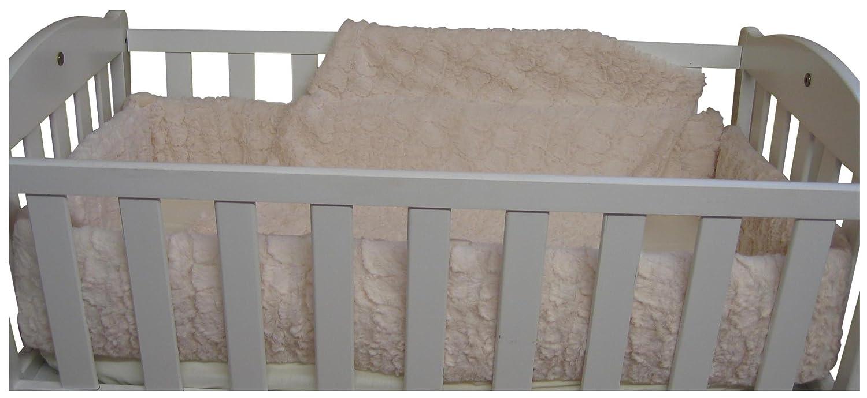 Baby Doll Bedding Sherling Cradle Bedding Set, Ivory by BabyDoll Bedding   B004R1PO5E