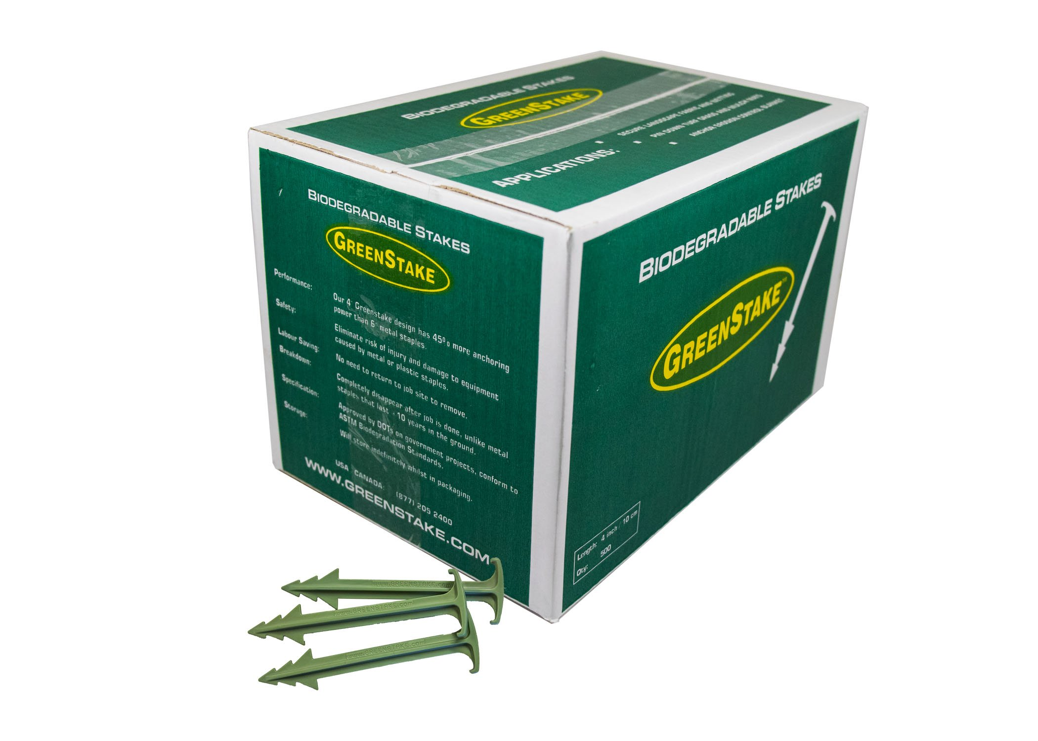 Box of 500 GreenStake Biodegradable Stakes 4''