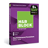 Deals on H&R Block Tax Software Deluxe + State 2018 with 5% Refund Bonus Offer
