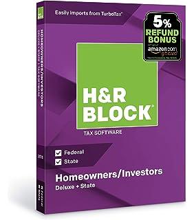 HR Block Tax Software Deluxe State 2018 With 5 Refund Bonus Offer