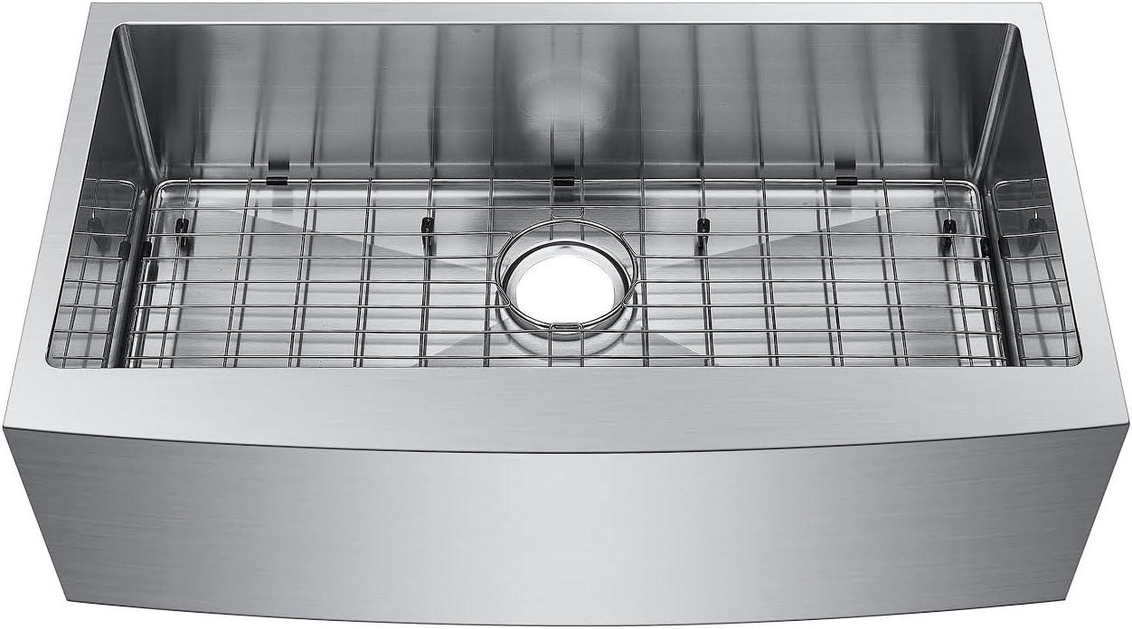 Starstar 36 Undermount Farmhouse Apron 304 Stainless Steel 16 Gauge Kitchen Sink With Accessories Single Bowl