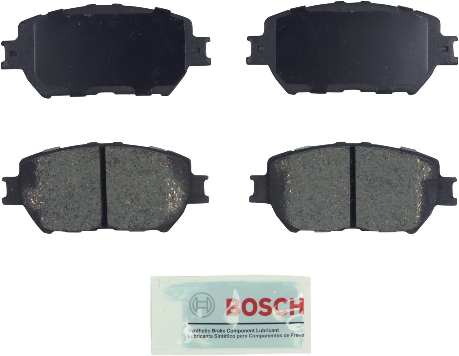 Front Ceramic Brake Pads w//Hardware Kit for Lexus IS250 Toyota Camry