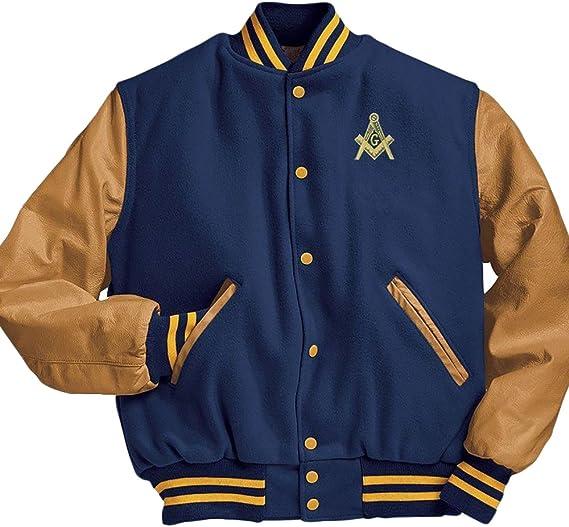 Free Mason Mens Windbreaker Jacket Coat Square Compass Fraternity Outdoor NEW!
