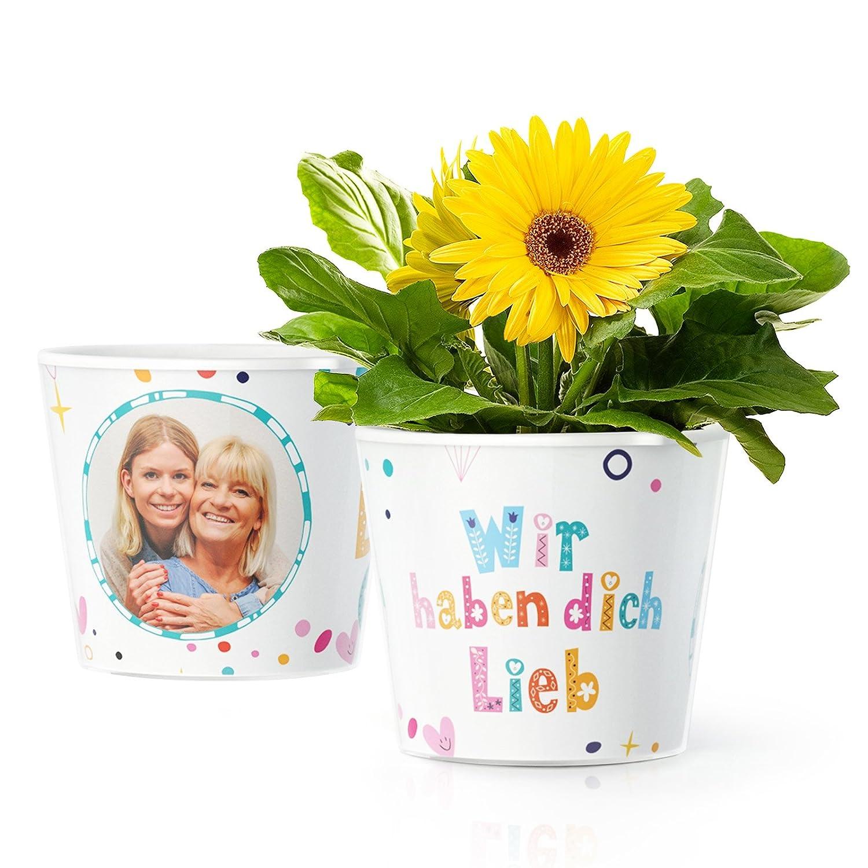Facepot Geschenk für Oma, Uroma oder Mama - Blumentopf (ø16cm) mit ...