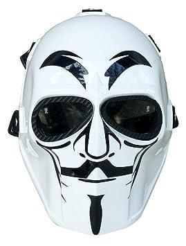 Airsoft full face máscara V para Vendetta ejército de dos protección de la seguridad Paintball Cosplay