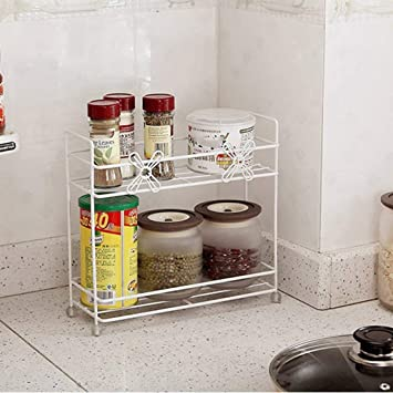 NAERFB Regal - Doppel Metall Küche kleines Regal Desktop ...