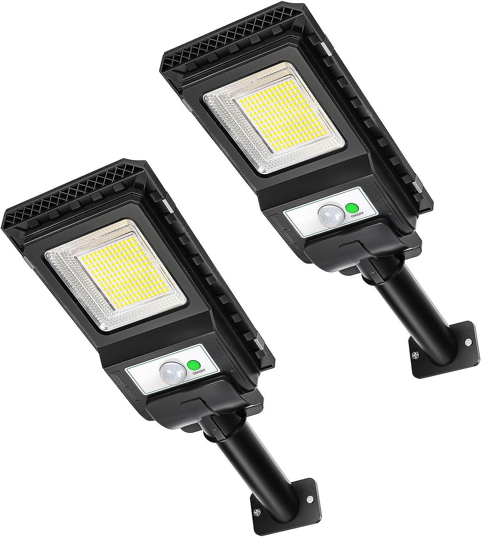 Solar Lights Outdoor,156 LED Motion Sensor Outdoor Light Solar Powered,Wireless IP65 Waterproof Security Flood Lights for Yard Front Door Porch Patio Garden Path(2 Pack)