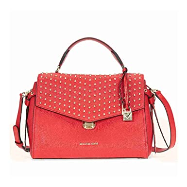 dc30fa875039 Image Unavailable. Image not available for. Color  Michael Kors Bristol  Medium Leather Studded ...