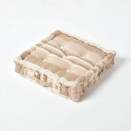 /Cuscino per sedia cuscino di seduta Morocco 40/x 40/cm in strisce di design in 100/% puro cotone con imbottitura in poliestere in blu Homescapes/