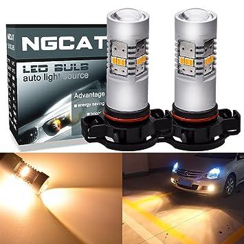 ngcat 1800 lúmenes 14 SMD 3020 CREE H16 5202 bombillas LED para automóvil coches DRL luces