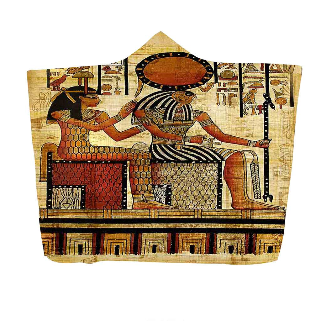 AHAYAKU Ancient Egyptian Pharaoh Hooded Blanket Napping Blanket Wearing a Hat Blanket 2019 Summer by AHAYAKU