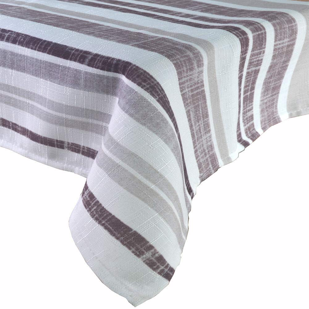 R.LANG Spill Proof Table Runner 14 x 104-inch Kitchen Table Runner Dinner Parties White/Brown
