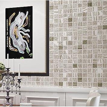 Non Woven Tapete Modern Minimalistic 3D Mosaik Wohnzimmer Schlafzimmer TV  Hintergrundbild, Yellow Powder