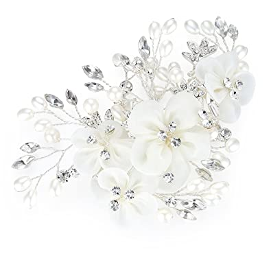 Honey Bear Bridal Jewellery Flower Hair Combs Clip For Womens